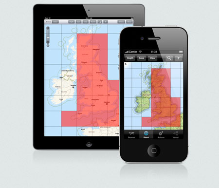 iPhone/iPad screens displaying the World Maps Offline application